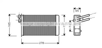 Радиатор печки на VOLKSWAGEN PASSAT 'AVA AI6097'.