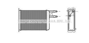 Радіатор печі 'AVA CN6128'.