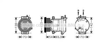 Компресор кондиціонера AVA DWAK071.