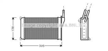 Радиатор печки 'AVA FD6093'.