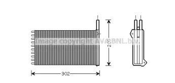 Радиатор печки 'AVA FD6154'.