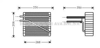 Випарник кондиціонера AVA FDV269.