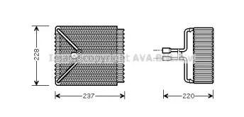 Випарник кондиціонера AVA FDV371.