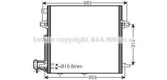Радіатор кондиціонера на Мерседес Гл Клас  AVA MS5406D.