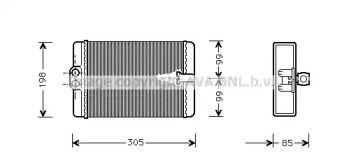 Радіатор печі на Мерседес W210 AVA MSA6250.