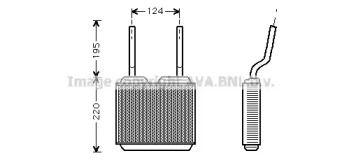 Радіатор печі AVA OL6132.