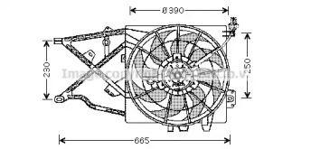 Вентилятор охолодження радіатора 'AVA OL7505'.