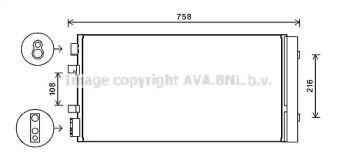 Радіатор кондиціонера 'AVA RTA5483D'.