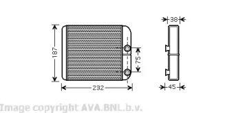 Радіатор печі на Мітсубісі Карізма  AVA VO6129.