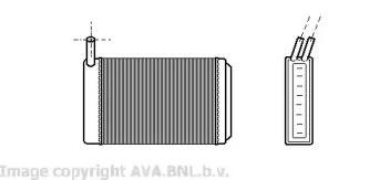 Радиатор печки на VOLKSWAGEN GOLF 'AVA VW6061'.