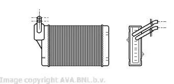 Радиатор печки на Фольксваген Джетта 'AVA VW6069'.