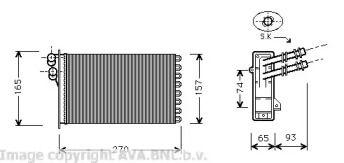 Радиатор печки на Фольксваген Гольф 'AVA VW6173'.