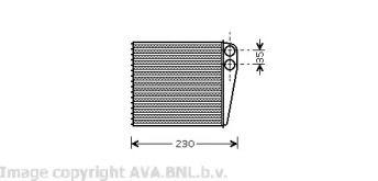 Радиатор печки на Шкода Октавия А5 'AVA VW6229'.