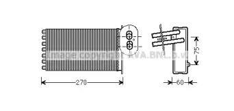 Радиатор печки AVA VW6296.