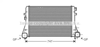 Интеркулер на SKODA OCTAVIA A5 'AVA VWA4227'.
