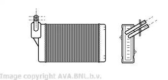 Радиатор печки на Фольксваген Гольф 'AVA VWA6060'.