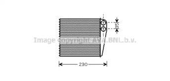 Радиатор печки на Сеат Альтеа 'AVA VWA6229'.