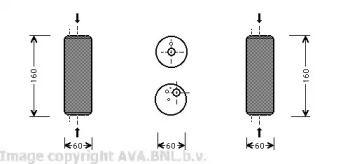 Осушитель кондиционера на SEAT TOLEDO 'AVA VWD014'.