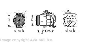 Компресор кондиціонера 'AVA VWK257'.