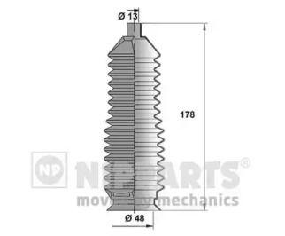 Комплект пильовика кермової рейки на Мазда Кседос 6 'NIPPARTS J2843004'.