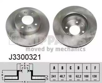 Вентилируемый тормозной диск на KIA PICANTO 'NIPPARTS J3300321'.