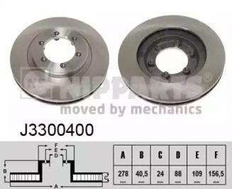 Вентилируемый тормозной диск на SSANGYONG MUSSO 'NIPPARTS J3300400'.