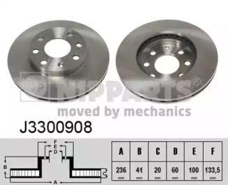 Вентилируемый тормозной диск на CHEVROLET SPARK 'NIPPARTS J3300908'.