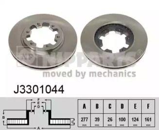 Вентилируемый тормозной диск на Ниссан Террано 'NIPPARTS J3301044'.