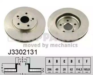 Вентилируемый тормозной диск на Тайота Альфард 'NIPPARTS J3302131'.