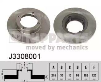 Тормозной диск на Сузуки Карри NIPPARTS J3308001.