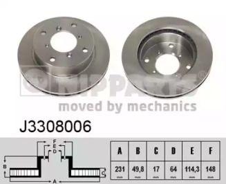 Вентилируемый тормозной диск на SUZUKI ALTO 'NIPPARTS J3308006'.