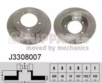 Тормозной диск на Сузуки Джимни 'NIPPARTS J3308007'.