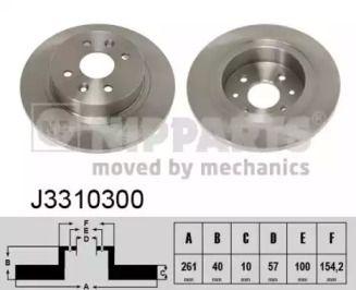 Тормозной диск на KIA CERATO 'NIPPARTS J3310300'.
