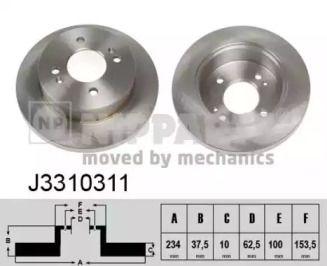 Тормозной диск на KIA PICANTO NIPPARTS J3310311.