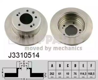 Тормозной диск на HYUNDAI I30 'NIPPARTS J3310514'.
