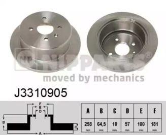 Тормозной диск на DAEWOO LEGANZA 'NIPPARTS J3310905'.