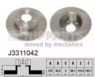 Тормозной диск на NISSAN MAXIMA 'NIPPARTS J3311042'.