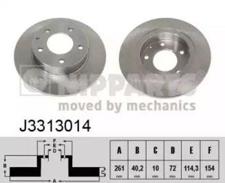 Тормозной диск на MAZDA XEDOS 6 'NIPPARTS J3313014'.
