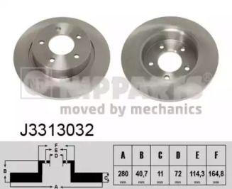 Тормозной диск на Мазда 5 'NIPPARTS J3313032'.