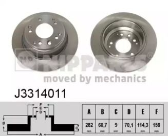 Тормозной диск 'NIPPARTS J3314011'.