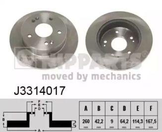 Тормозной диск 'NIPPARTS J3314017'.