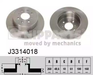 Тормозной диск 'NIPPARTS J3314018'.