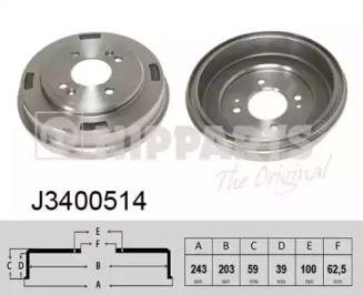 Тормозной барабан 'NIPPARTS J3400514'.