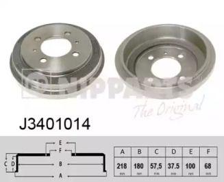 Тормозной барабан на Ниссан 100Нх 'NIPPARTS J3401014'.