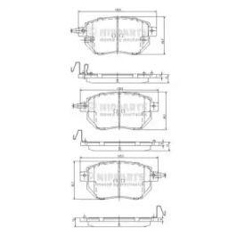 Тормозные колодки на Ниссан 370З 'NIPPARTS J3601092'.