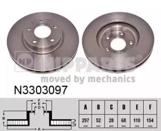 Гальмівний диск на Мазда СХ5 NIPPARTS N3303097.