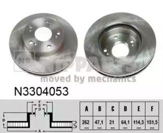 Вентилируемый тормозной диск на HONDA CR-Z 'NIPPARTS N3304053'.