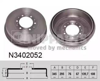 Тормозной барабан 'NIPPARTS N3402052'.