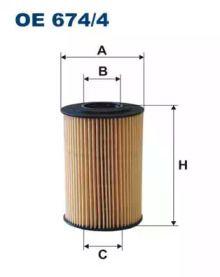 Масляний фільтр FILTRON OE674/4.