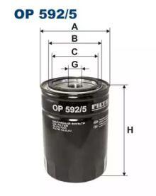 Масляный фильтр 'FILTRON OP592/5'.